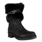 La Thuile Orlando Buckle Womens Winter Boot in Black