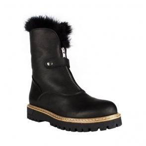 La Thuile Sella Womens Leather Winter Boot in Black