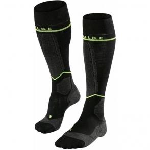 Falke SK Energizing Wool Mens Compression Ski Socks in Black