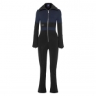 Fusalp Grazzia Womens Ski Suit in Dark Blue