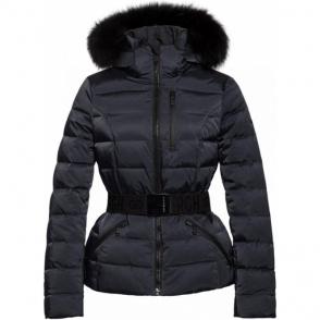 Goldbergh Soldis Ski Jacket Saga Fur Trim Dark Navy