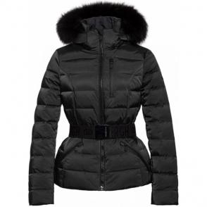 Goldbergh Soldis Ski Jacket Saga Fur Trim Black