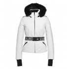 Goldbergh Hida Ski Jacket Saga Fur Trim White