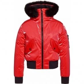 Goldbergh Bomba Ski Jacket Saga Fur Trim Ruby Red