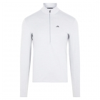 J.Lindeberg Luke Half Zip Midlayer in Grey