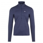 J.Lindeberg Luke Half Zip Midlayer in Navy