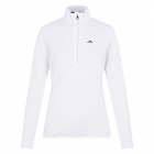 J.Lindeberg Lauryn Half Zip Midlayer in White