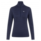 J.Lindeberg Lauryn Half Zip Midlayer in Navy