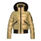 Goldbergh Aura Ski Jacket Saga Fur Trim Gold