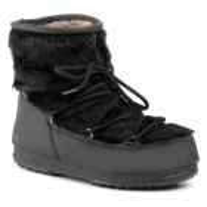 Monaco Low Fur Winter Boot in Black