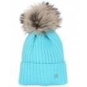 Bogner Leonie Womens Designer Ski Hat in Turquoise