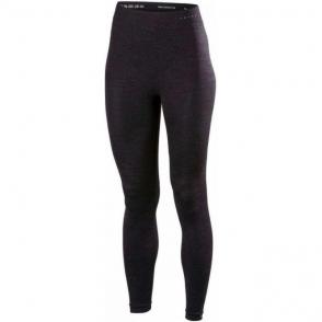 Falke Womens Wool Tech Long Tights Tight Fit in Black