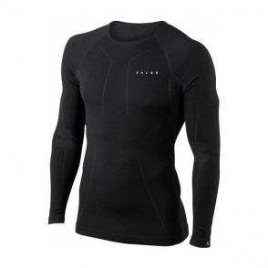 Falke Wool Mix Longsleeved Shirt Mens Ski Thermal in Black