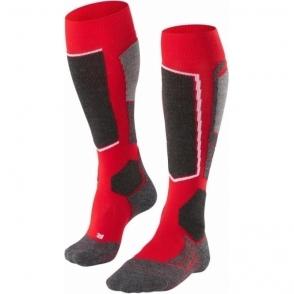 Falke SK2 Mens Ski Socks In Lipstick Red