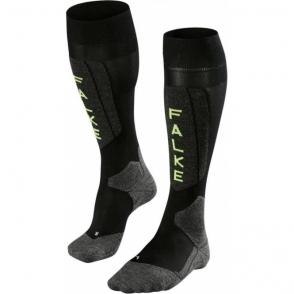 Falke SK5 Mens Ski Socks in Black Lighting