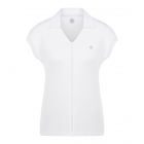 Poivre Blanc Pique Polo Shirt in White