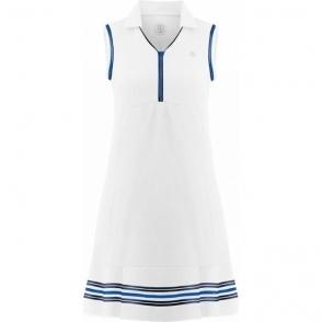 Poivre Blanc Pique Tennis Dress White/Oxford Blue