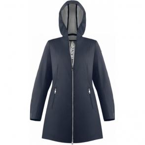 Poivre Blanc Silver Coating Rain Coat Oxford Blue