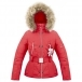 Poivre Blanc Belted Junior Girls Ski Jacket in Scarlet Red