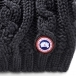 Canada Goose Chunky Cable Knit Womens Hat In Black