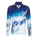 Bogner Berto Mens First Layer Top in Blue and White Print