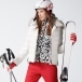 Bogner Sally 3 D Womens Ski Jacket in White with Luxe Trim
