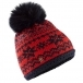 Bogner Kaira Womens Hat in Red and Navy