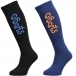 BARTS Basic Sock 2 Pack Kids Ski Sock in Black and Blue
