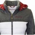 ALMGWAND Nordhorn Jacket Womens Ski Jacket in White and Grey
