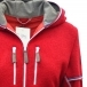 ALMGWAND Lauterberg Wool Womens Jacket in Red and Grey