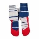 FALKE SK4 Stripe Mens Ski Socks in Royal Blue