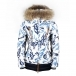 Bogner Calina D Womens Ski Jacket in White and Navy