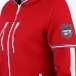 Almgwand Lauterberg Wool Womens Jacket in Red and Grey