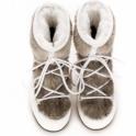 MOON BOOT Monaco Low Fur Winter Boot in White