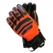 Bogner Agimo Mens Glove in Orange and Black