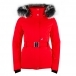 Poivre Blanc Beth Womens Jacket in Scarlet Red