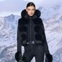 GOLDBERGH Foxy Saga Fur Gilet Black