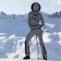 GOLDBERGH France Ski Suit Saga Fur Trim in Blk/Wh