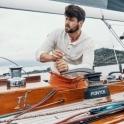 AMUNDSEN Summer Wool Henley G Dyed Mens Natural