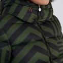 PERFECT MOMENT Star Dazzle Ski Jacket in Dark Green/Black