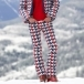 PERFECT MOMENT Aurora High Waist Flare Ski Pants in Houndstooth