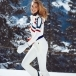 PERFECT MOMENT Tignes One Piece Ski Suit in Snow White/Navy/Red