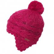 Barts Lucy Earflap Girls Kids Ski Hat in Berry