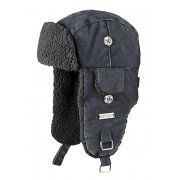 Barts Billy Bomber Kids Ski Hat in Dark Heather