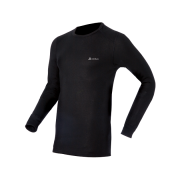 Odlo Warm L/S Shirt Crew Neck Mens Baselayer in Black