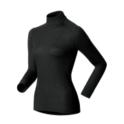 Odlo Warm Shirt L/S Turtle Neck Womens Baselayer in Black