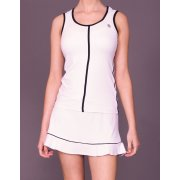 Poivre Blanc Fidan Tennis Skort in White with Black Trim