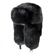 Barts Fur Bomber Ski Hat in Black
