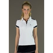 Poivre Blanc Womens Tennis Polo in White and Black
