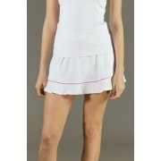 Poivre Blanc Frilly Tennis Skort in White and Dalhia